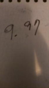 $9.97 Price Tag